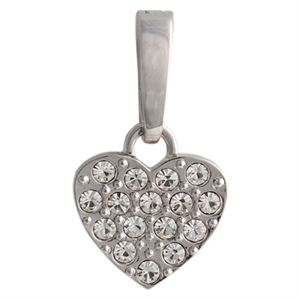 Picture of Silver Crystal Heart Droplet
