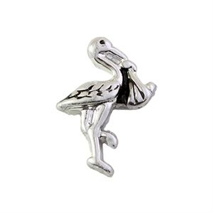 Picture of Silver Stork Charm
