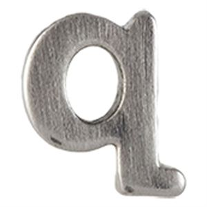 Picture of Silver 'Q' Slider Charm
