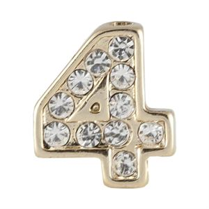 Picture of Gold Number Four Charm