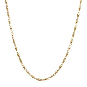 """Picture of Gold Multifaceted Link Chain - 28"""""""