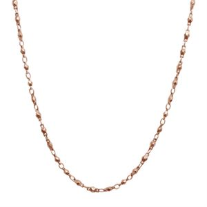 Picture of Rose Gold Multifaceted Link Chain - 28""
