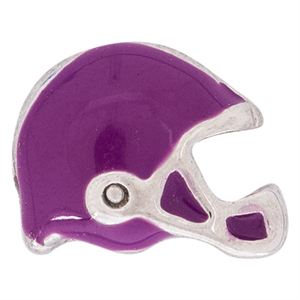Picture of Purple Football Helmet Charm