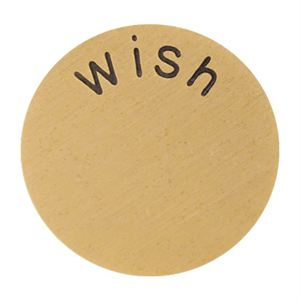 Picture of 'Wish' Large Gold Coin