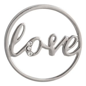 Picture of Silver Crystal 'Love' Screen