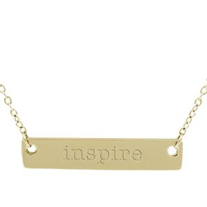 """Picture of Gold 'Inspire' Bar Necklace - 16"""""""