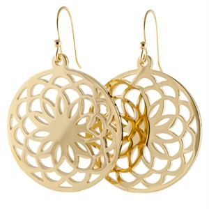Picture of Gold Flower Screen Earrings