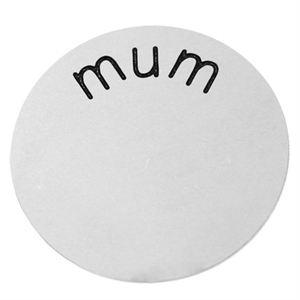 Picture of 'Mum' Medium Silver Coin