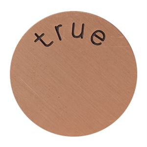 Picture of 'True' Medium Rose Gold Coin